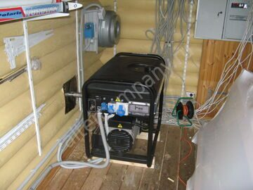 Оборудование помещения для генератора